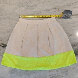 Skirts - A Line Skater Neon Sequence and Khaki Skirt